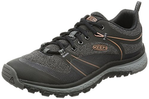 KEEN Women's Terradora Hiking Shoe, Raven/Rose Dawn, 6.5 M US by KEEN