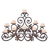 Pilgrim Home and Hearth 17504 Venice Fireplace Candelabra Candle Holder, Distressed Bronze Review