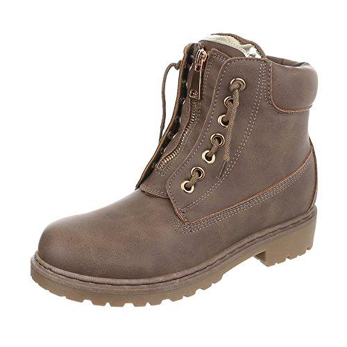 Women's Combat Ital Boots Light Design Brown 7qwAAUP6