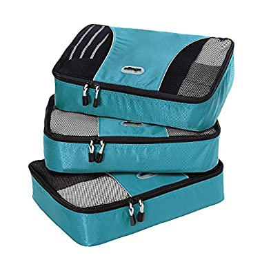 eBags Medium Packing Cubes - 3pc Set (Aquamarine)