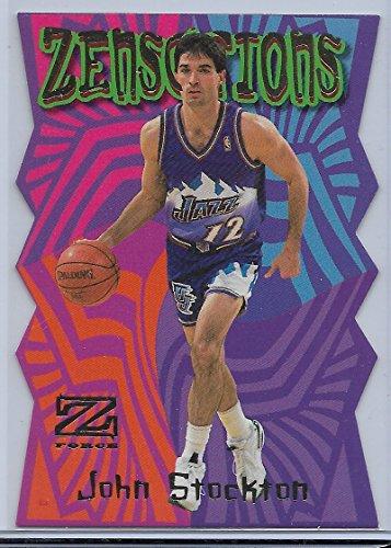 178ec03b413 1997-98 Skybox Z Force Basketball John Stockton Zensations Die Cut Insert  Card