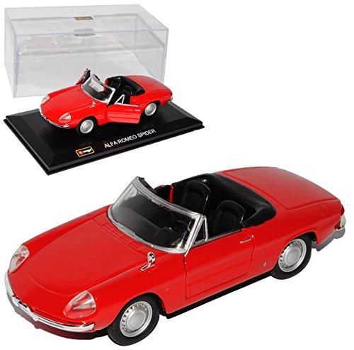 Alfa Romeo Spider Duetto Cabrio Rot 105/115 1966-1969 1/32 Bburago Modell Auto mit individiuellem Wunschkennzeichen