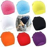 DRESHOW BQUBO 8 Pack Unisex Baby Beanie Hat Infant Baby Soft Cute Knit Cap Nursery Beanie