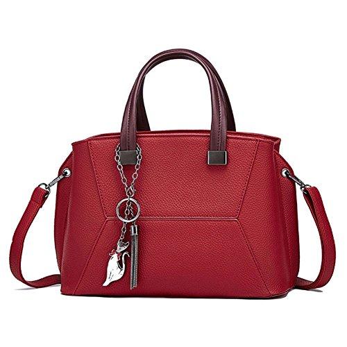 Compras Hombro Embragues Mujeres Cuero De Bolsas Las Las De Bolsa Bolsos Rojos Moda Asas De De De Bolsa Bolsas Mujeres De vw0nqxT7