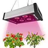LED Grow Light - Hipargero 400W COB LED Grow Lights Fixture for Indoor Plants Veg and Flower Lighting with 1200K 3000K 5000K Full Spectrum COBs and High Power 5W Cree LEDs