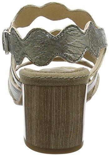 Sandalias argento Con Manas Para Abierta Mujer Punta platino Multicolor Guadalupe 007 bronzo ZHUqB