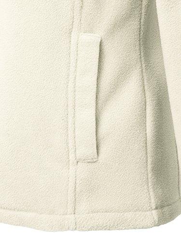 JayJay Women Ultra Soft Fleece Long Sleeve Hoodie Jacket,Beige,M by JayJay Active (Image #6)