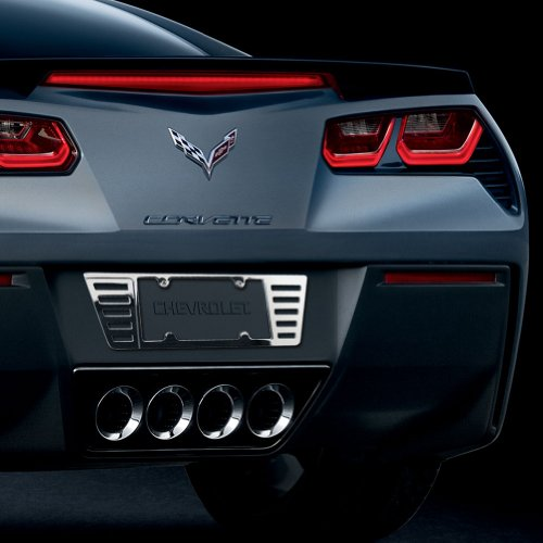 Corvette License Plate Frame - Billet Chrome : 2005-2014 C6, Z06, ZR1, Grand Sport & C7 Stingray ()