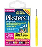 Piksters Interdental Brush Pack Of 40 Size 3 Yellow