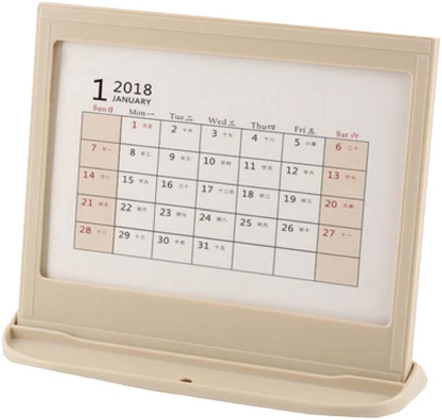 2018 Calendario de escritorio/Calendario del profesor/Plan de la mesa de negocios, A2: Amazon.es: Oficina y papelería