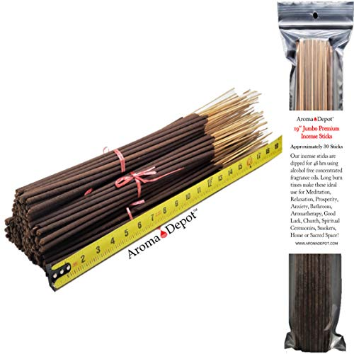 - Aroma Depot 19'' Egyptian Musk Most Exotic Incense Sticks. Approx 27 to 30 Sticks Per Bundle, Length - 19 Inch, Each Natural Stick Burns for 3 to 4 Hours Each. Long Lasting. Guarantee 100% Pure