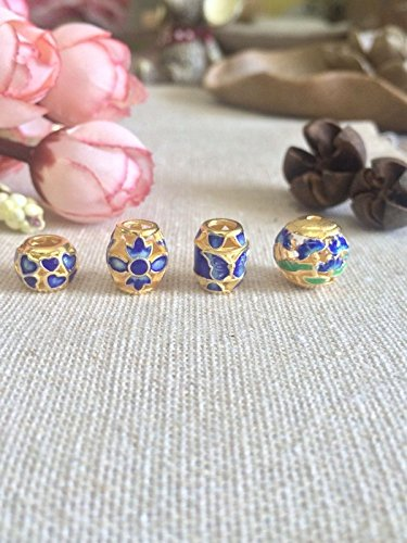 9 yuan /: s925 silver gilt bluing exquisite Chinese knot bracelet cloisonne enamel necklace with beads accessories