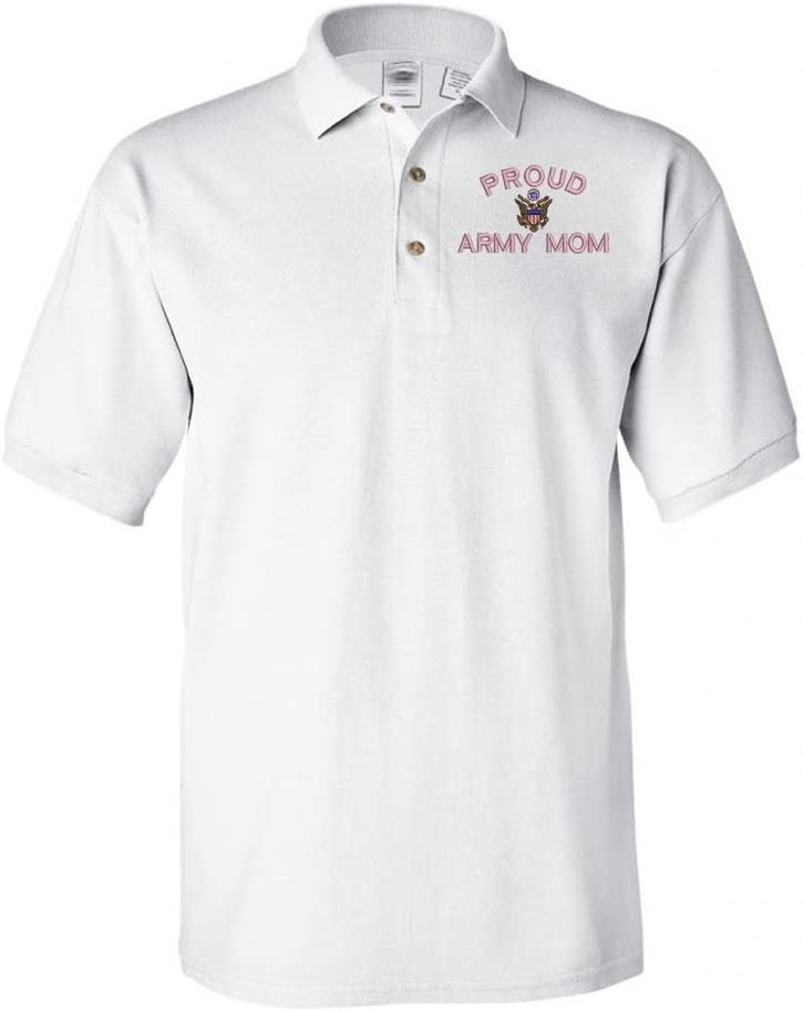 Military Proud Army Mom Polo Shirt White