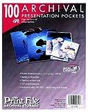 Print File 6-mil Polypropylene Presentation Pockets, 8x10''-100, (8x10-6PR-100)