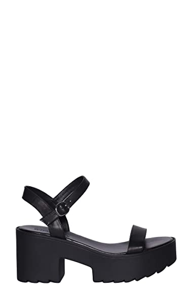 massimo stile seleziona per il meglio colori delicati Windsor Smith Sandalo Pelle con Fascia e Laccio alla Caviglia e Zeppa  Platform 8cm