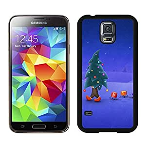 Custom Christmas Tree Black Samsung Galaxy S5 Case 1