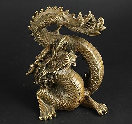 Yunhao China Estatua De Dragón De La Suerte Hecha A Mano De Latón