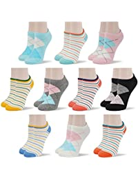 Women Fashion Designs No Show Socks - Low cut Cotton Ankle Socks Patterned Style
