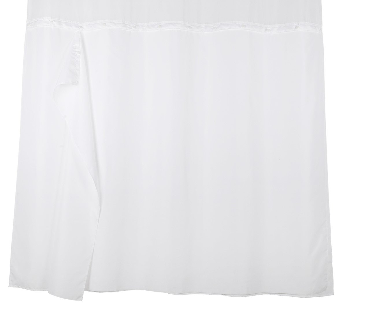 YQN Shower Curtain(No Need Hooks) with Removed Fabric Inner Liner 70.8 x 74 Inch Polyester Thickening Bath Curtain with Light-Filtering Mesh Screen Anti Mildew White Ltd.