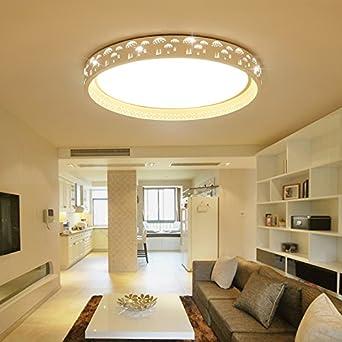 Cttsb Wohnzimmer Deckenlampe Led Wohnzimmer Warm Hohlen Pilz