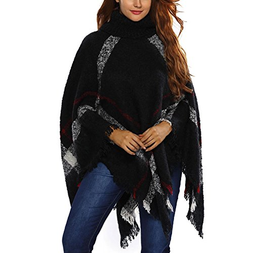 Femme JLTPH Col Roul Laine Cape Pull Poncho 8qw1aAA