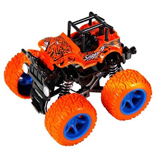 (PBOX Monster Trucks Friction Powered Cars for Kids, Toddler Toys Inertia Car Toys for 2 3 4 5+ Year Old Boys Girls)