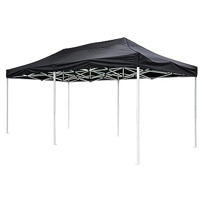 10x20 feet Black Ez Pop Up Tent Canopy Top Replacement for Stadium Garden Courtyard Beach Camping Wedding Outdoor Party Event: Garden & Outdoor