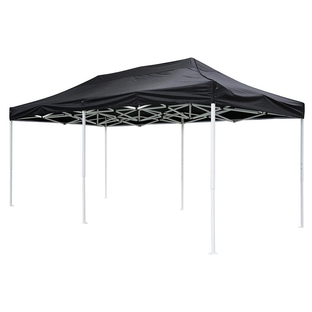 10x20 feet Black Ez Pop Up Tent Canopy Top Replacement for Stadium Garden Courtyard Beach Camping Wedding Outdoor Party Event