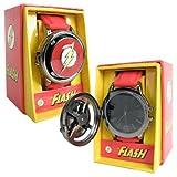 Flash Logo Red Strap Spinner Watch