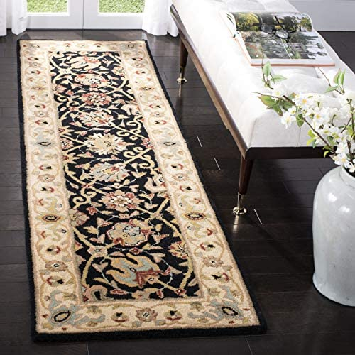 Safavieh Antiquities Collection AT21B Handmade Traditional Oriental Black Wool Area Rug 2 x 3