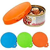XWB 3 pcs Universal Silicone Food Can Lid Cover For Pet Food Can Fits Most Standard Size Dog and Cat Can Tops