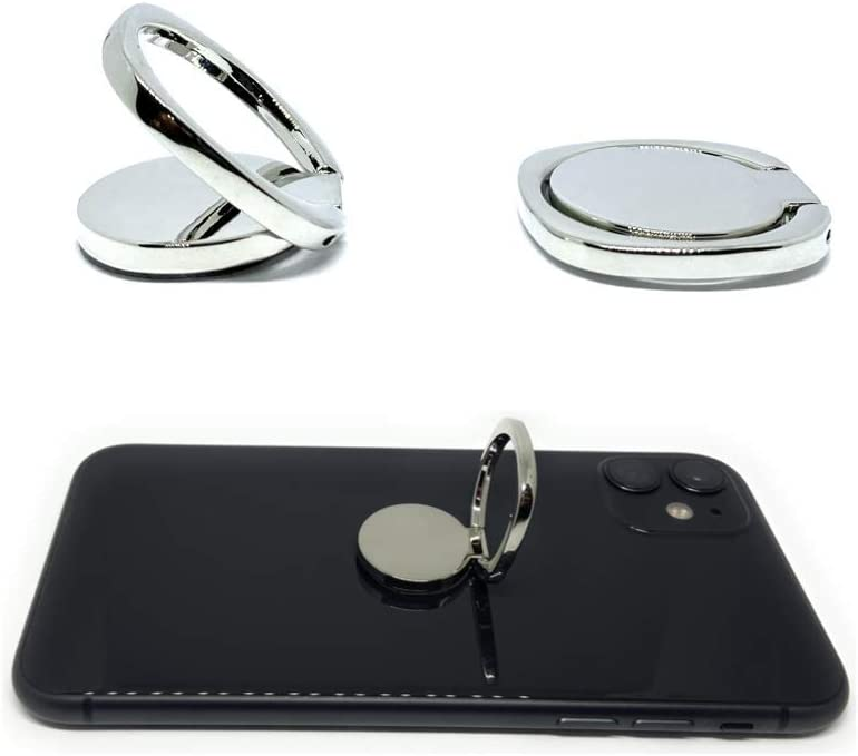 - Silver 2 Pack Smartgrip Metal Grip /& Stand Rings Compatible w//iPhone Galaxy All Smartphones /& Tablets Cell Phone Ring Holder Finger Kickstand