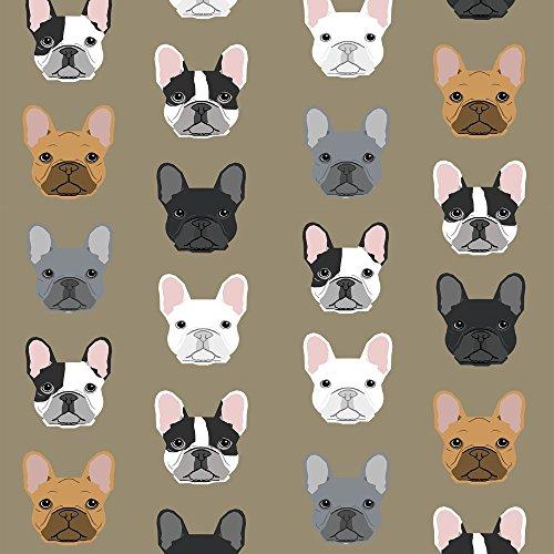 french bulldog fleece fabric - 1