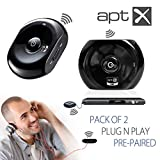 Avantree Pre-paired 2 PCS Bluetooth Audio Transmitter and Receiver for Wireless Streaming Audio from TV DVD Via Old Home Stereo or Wired Headphones - Saturn Set
