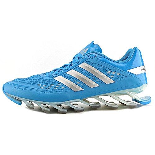 Adidas Hombre Springblade de frecuencia funcionando Zapatos - Running White / negro / blanco (6,5) Solar Blue