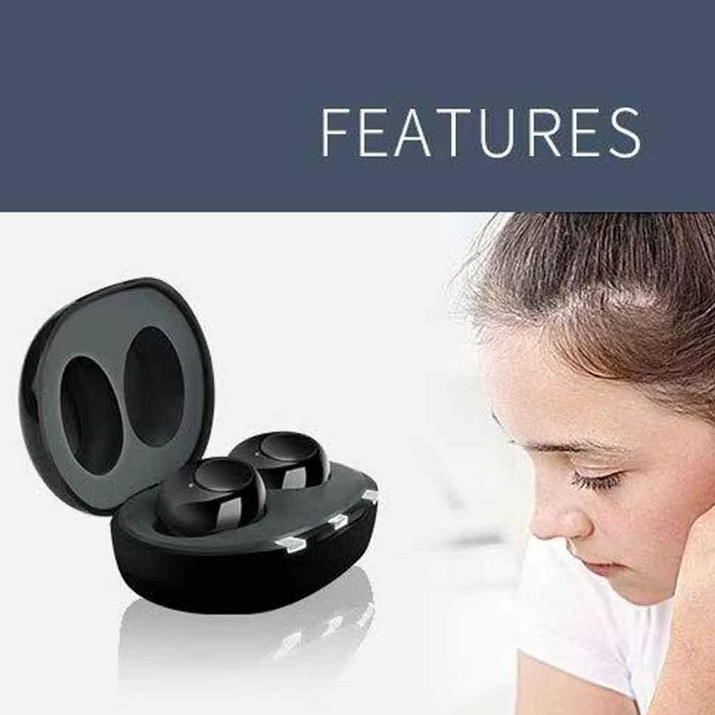 Invisible Hearing Aid Sound Amplifier Hearing Aid Earphone Bluetooth Hearing Aid Clearly and Solf Sound Adaptive Noise Reduction