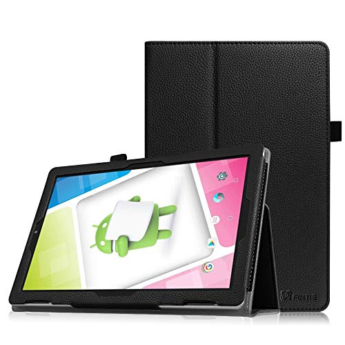 Fintie Nextbook Ares 10A Case, Slim Fit Premium Vegan Leather Standing Protective Cover Case with Stylus Holder for Nextbook Ares 10A 10.1 Inch NX16A10132S Android Tablet, Black