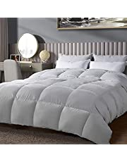 WarmKiss Premium All Season Down Comforter Queen Size Duvet Insert, Noiseless Tencel, Traceable Down Filling, Eco-Friendly Gift Comforter Storage Bag