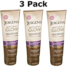 Jergens Natural Glow 3 Days to Glow Moisturizer Medium to Tan Skin - 4 Ounce, Pack of 3