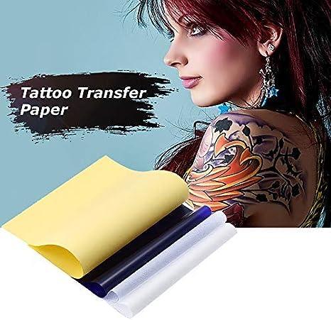 Anself 100 Pcs Papel de Transferencia para Tatuaje Cuatro Capas de ...