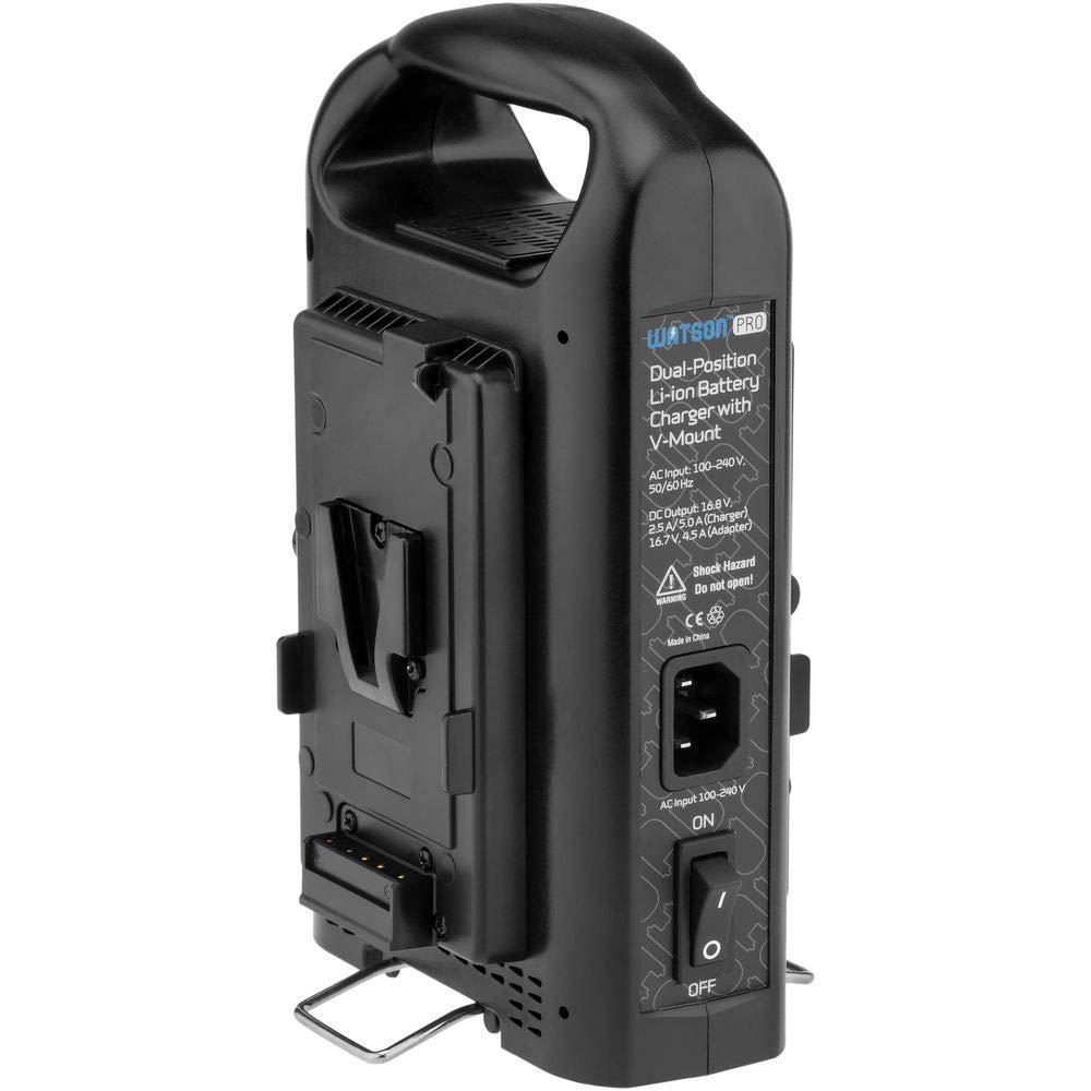 Watson Pro デュアルポジションリチウムイオンバッテリー充電器 (V-マウント)   B07PHH6D9X