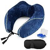 ONSON Travel Pillow - 100%Pure Memory Foam Neck Pillow - U-Shaped Airplane Car