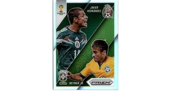 2014 Panini Prizm World Cup Matchups #2 Javier Hernandez Neymar Jr Brazil Mexico Voetbal Verzamelkaarten, ruilkaarten