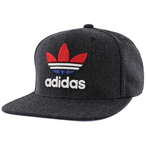 Dott Island - adidas Men's Originals Snapback Flatbrim Cap, Heather Navy, One Size