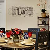 Eat Phrases Vinyl Lettering Wall Decal Sticker (12.5