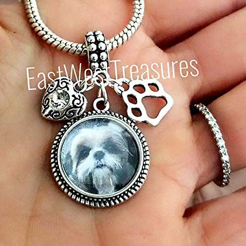 Shih Tzu Shitzu dog photo picture charms-for charm bracelets and necklaces-Custom Shih Tzu Jewelry gifts