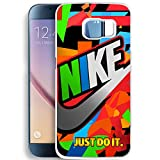 Colorful Nike And Just Do It for Samsung Galaxy series case (Samsung Galaxy S6 Edge White)