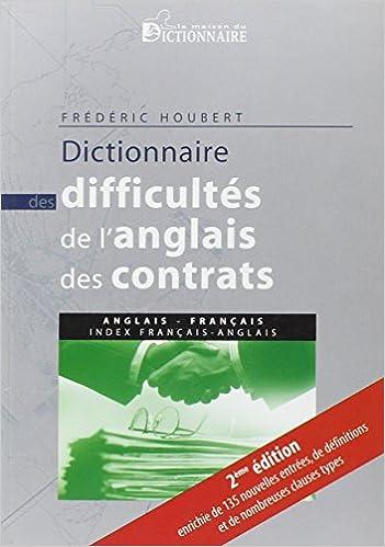 Amazon Fr Dictionnaire Des Difficultes De L Anglais Des Contrats
