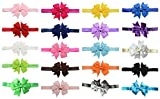 Best QandSweet Clothing For Boys - Qandsweet 20pcs Newborn Headbands with Hair Bows Flower Review