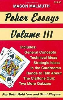 Poker essays vol. 1-3 by mason malmuth